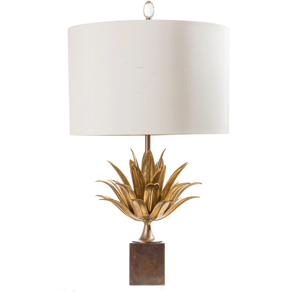 Layered Leaf Lamp Bz/Ago - Table Lamps - Layered Leaf Lamp Bz/Ago